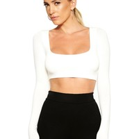 The NW Scooped Crop - Tops - Womens