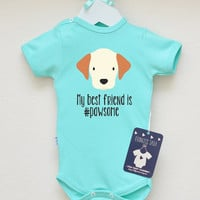 Puppy Infant Baby Bodysuit. My Best Friend Is Pawsome Baby Shirt. Cute Dog Baby Clothes. Dog Best Friend Baby Infant Romper.