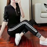 ADIDAS Fashion Sport Casual Long Sleeve Long pants Print Casual Two piece G-JJ-MYZDL