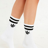 Weed Sport Socks in White - Urban Outfitters