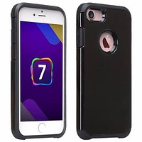 For Apple iPhone 8 Plus Case, Slim Hybrid Dual Layer Case Cover for iPhone 8 Plus - Black