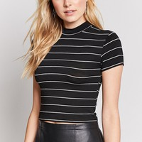 Stripe Stretch-Knit Tee