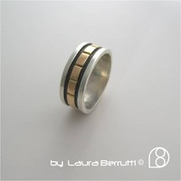 Supermarket: Sterling and 14K Gold Ring Band from LaB  Inspired Sterling    by Laura Berrutti