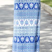 Thinking Out Loud Maxi Skirt – Blue