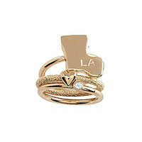 Bourbon & Boots Louisiana State Stacked Ring Set