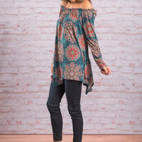Fun For All Top, Teal