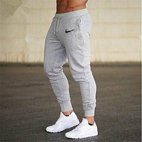 Brand casual pencil trousers Gyms Men Joggers Sweatpants Men Joggers Trousers Sporting The high quality Bodybuilding Pants