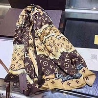 LV Louis Vuitton Trending Woman Stylish Cashmere Scarf Shawl Silk Scarf