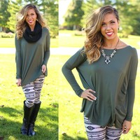 Pretty in Piko Top in Army