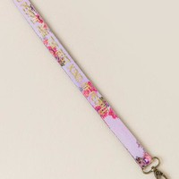 Kind people are the best people floral lanyard