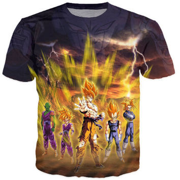 Dragon ball Z Goku 3D Cartoon T-Shirt