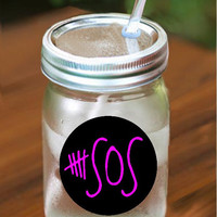 5 Seconds of Summer Mason Jar Tumbler - 16 oz.