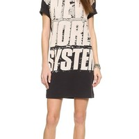 Marc by Marc Jacobs Women's New World System Tee Shirt Dress, Black Multi, Small
