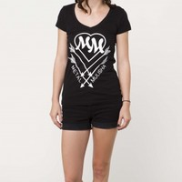 Metal Mulisha HEART HUNTER TEE: Maidens Tees