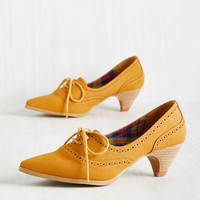 Exam Day Elegance Heel in Sunflower | Mod Retro Vintage Heels | ModCloth.com
