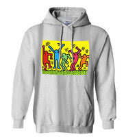 Keith Haring Pop Art Mens Hoodie and Womens Hoodie