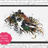 Dementor from Harry Potter Watercolor Print Dementor llustrations Children's Room Decor Dementor Poster Giclee Art Home Decor Wall Hanging