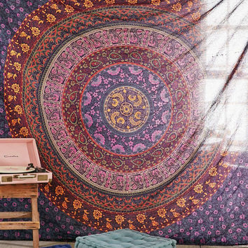 Large Hippie Tapestry, Hippy Mandala Bohemian Tapestries, Indian Dorm Decor, Psychedelic Tapestry Wall Hanging Ethnic Decorative Urban Tapestry