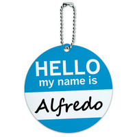 Alfredo Hello My Name Is Round ID Card Luggage Tag