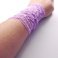 Light PURPLE Lace Wrist Cuff Fashion accessory Women Teens MANY COLORS Tattoo Cover