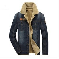 Trendy New2018 Mens Rodeo Lined Denim Jackets New men jacket and coats Fashion mens jeans jacket Thicken warm winter outwear male M~4XL AT_94_13