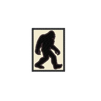 "Patch Craft - Bigfoot Classic Silhouette - (5"" x 6.7"" Patch Iron On)"