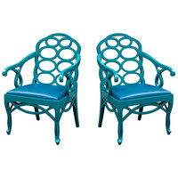 Pair of armchairs in the manner of Frances Elkins