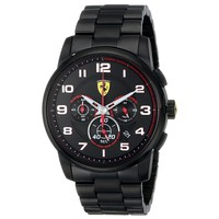 Ferrari 0830054 Men's Heritage Black Dial Black IP Steel Chronograph Watch