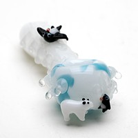 Empire Glassworks Icy Penguin Glass Pipe