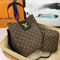 lv louis vuitton women leather shoulder bags satchel tote bag handbag shopping leather tote 134