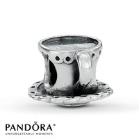 Pandora Charm Tea Cup & Saucer Sterling Silver