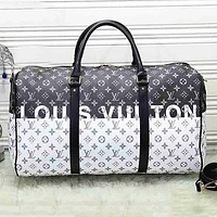 LV Louis Vuitton Fashion new print large capacity handbag Luggage bag travel bag