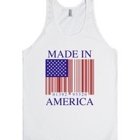 Made in America-Unisex White Tank