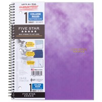 Clouded Spiral Notebook 1 Subject College Ruled - Five Star