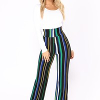 Helene Stripe Pants - Black/ Green