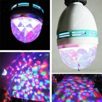 DUSIEC Mini RGB Full Color Rotating LED Lamp Stage Light Torch 3W with E27 Base For Disco DJ Stage Party KTV Bars Club:Amazon:Home Improvement