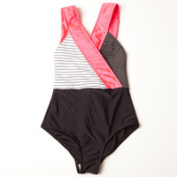 Cross Body Suit - Pink
