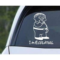 Coronavirus COVID-19 - Simpsons - Ralph I'm Essential Die Cut Vinyl Decal Sticker