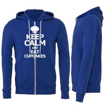 Keep Calm And Eat Cupcakes Zipper Hoodie
