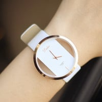 Women Men Hollow Out Watch High-quality Watches + Christmas Gift Box-23