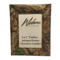Weber's Camo Leather Photo Frame - 5x7 Realtree Timber