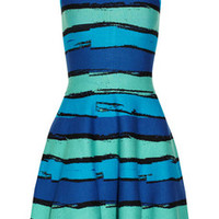 Issa Striped stretch-knit dress – 54% at THE OUTNET.COM