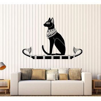 Vinyl Wall Decal Ancient Egypt Egyptian Cat God Bastet Stickers Unique Gift (384ig)