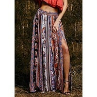 Maxi Summer Skirt Beach Long Casual Skirts Fashion New Womens Gypsy Boho Tribal Floral Skirts