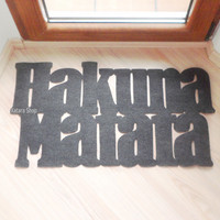 Mat based in The Lion King. Hakuna matata doormat. Custom door mat. It means no worries