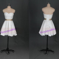 2014 short ivory satin bridesmaid dresses,cute sweetheart women gowns for wedding party,cheap chic prom dress under 100.