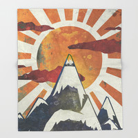 Mount Spitfire Throw Blanket by happymelvin