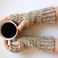 Crochet fingerless gloves, arm warmers, texting gloves, driving gloves, fashion gloves, wrist warmers