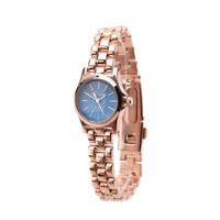Petite Rose Gold and Blue Classic Watch @ Inspired Silver