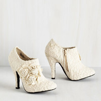 A Lovely Change of Lace Bootie by ModCloth